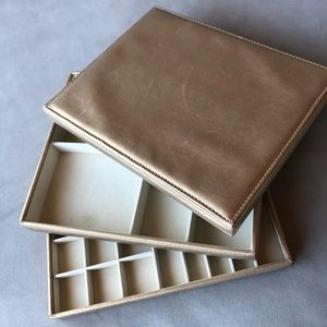 Jewelry Case ~ Two Trays with Cover Lid
